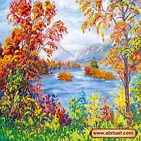 """Схема для вышивки бисером на натуральном холсте """"Осенняя сказка"""" AC-195"""