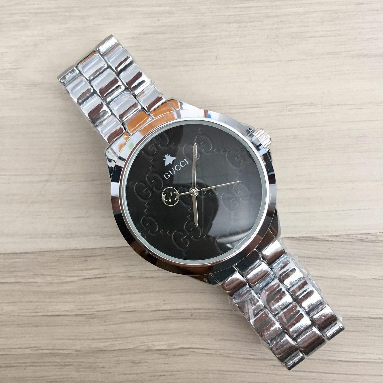 Наручные мужские часы Gucci 7161 GFS Silver Black