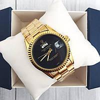 Наручные женские часы Rolex Day-Date Gold-Black