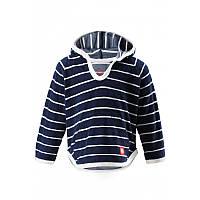 Темно-синий джемпер пляжный детский для мальчика Reima Dyyni размеры 80;86;92 лето мальчик TM Reima 516347-6843