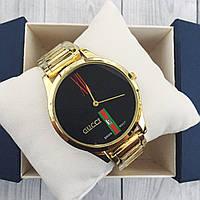 Наручные женские часы Gucci 9201 Gold-Black