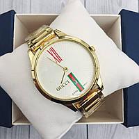 Наручные женские часы Gucci 9201 Gold-White