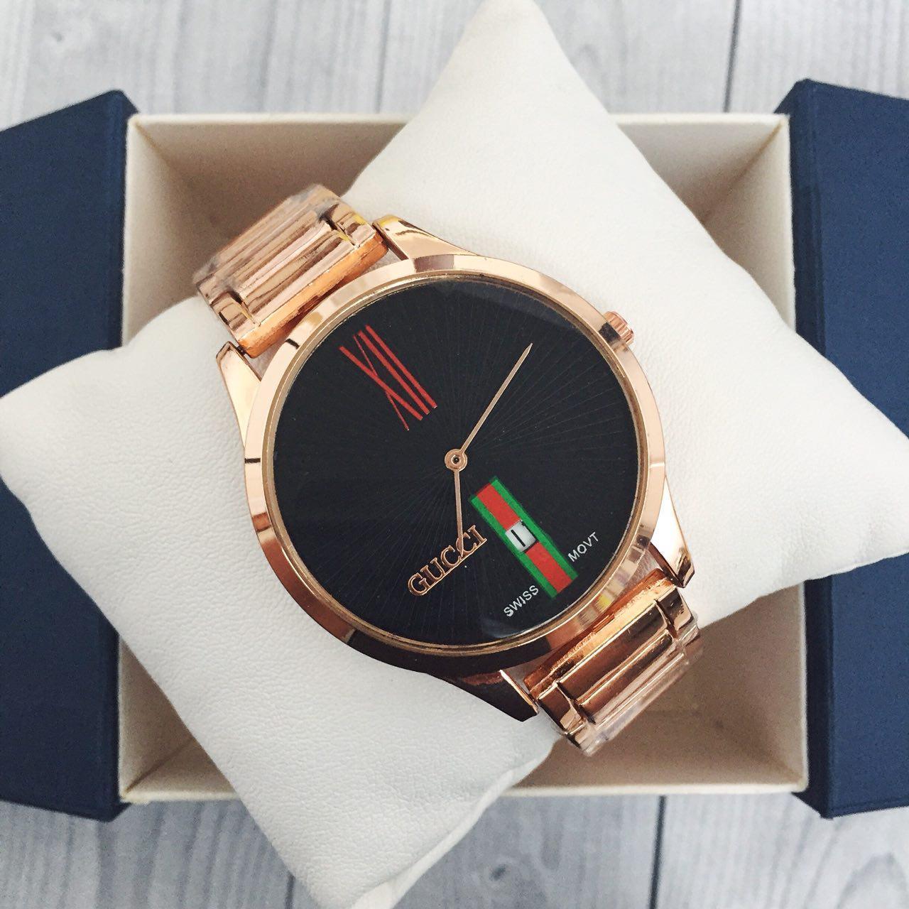 Наручные женские часы Gucci 9201 Cuprum-Black