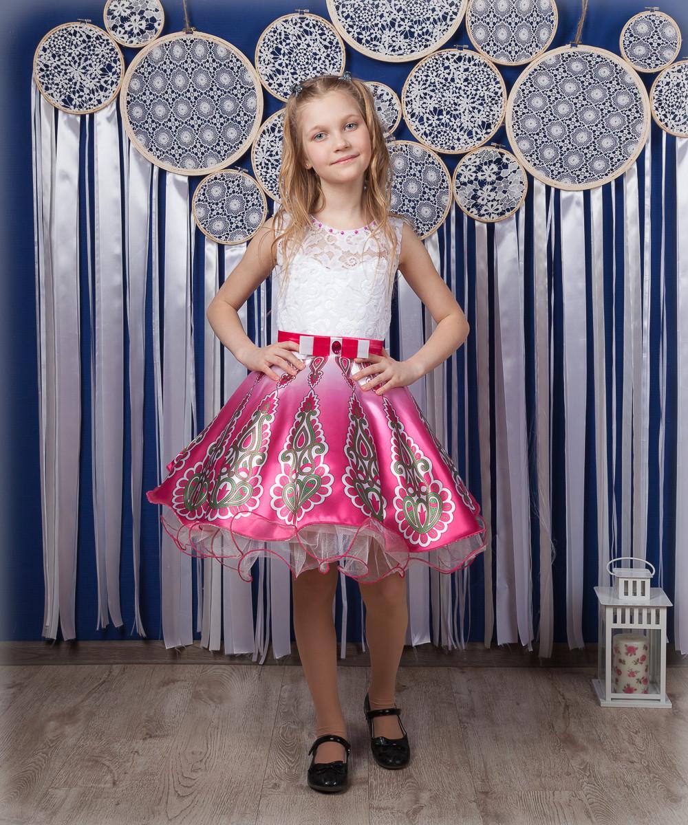 Праздничное платье с пышкой юбкой на девочку 4-10 лет