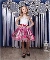 Праздничное платье с пышкой юбкой на девочку 4-10 лет, фото 1