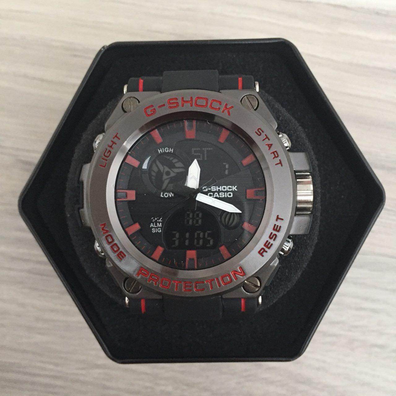 Наручные мужские часы Casio G-Shock GST-700 Black-Red