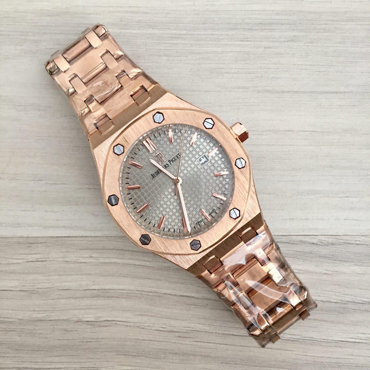 Наручные мужские часы Audemars Piguet Royal Oak Quartz Gold-Gray