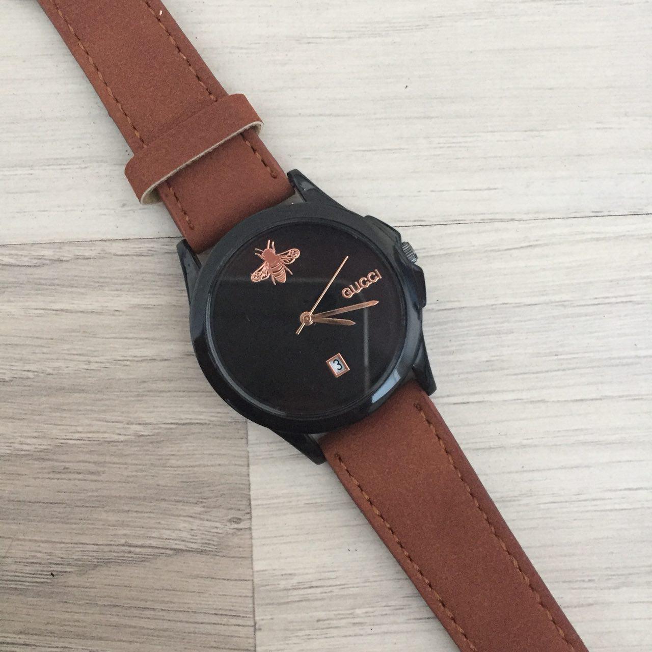 Наручные женские часы Gucci 1483 Brown-Black