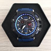 Наручные мужские часы Casio G-Shock GPW-1000 Black-Blue Wristband