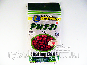Прикормка CUKK Puffi со вкусом малины крупного размера 30г