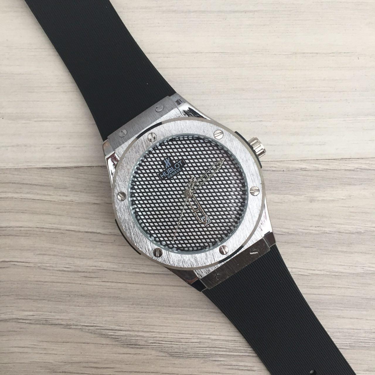 Наручные мужские часы Hublot 882888 Classic Fusion Black-Silver