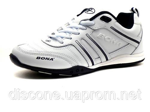 Кроссовки Bona унисекс, кожаные, белые