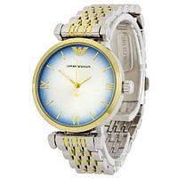 Наручные мужские часы Emporio Armani 6721 Silver-Gold Blue