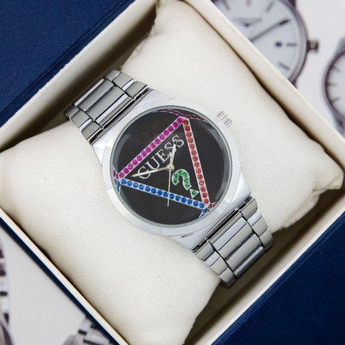 Наручные женские часы Guess 7156 Silver-Black