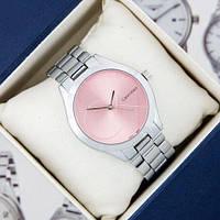 Наручные женские часы Calvin Klein 6239 Silver-Pink Big