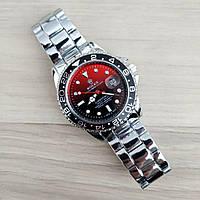 Наручные мужские часы Rolex Submariner Silver-Black-Red