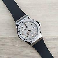 Наручные мужские часы Hublot Classic Fusion Black-Silver Big