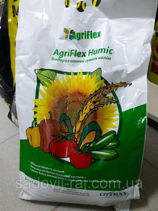 АГРИФЛЕКС ГУМИК  (Гумат калия + 15 % фульвокислоты), 5 кг CityMax Agrochemical