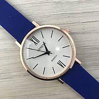 Наручные женские часы Geneva золото силикон синий