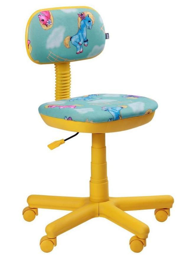 Кресло Свити желтый Пони бирюзовый (Микровелюр)