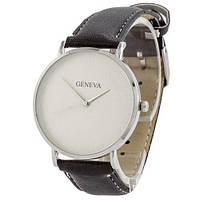 Наручные женские часы Geneva кожзам серебро белый серебро черный
