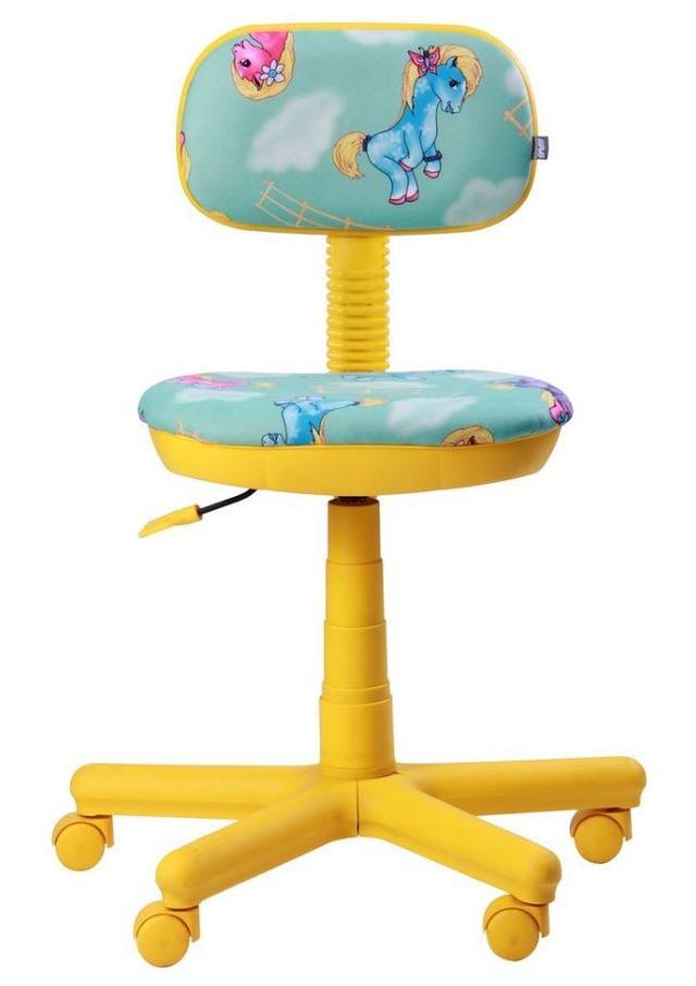Кресло Свити желтый Пони бирюзовый (Микровелюр) фото 3