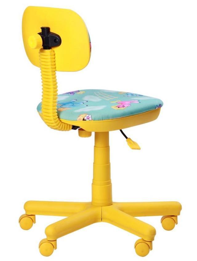 Кресло Свити желтый Пони бирюзовый (Микровелюр) фото 4