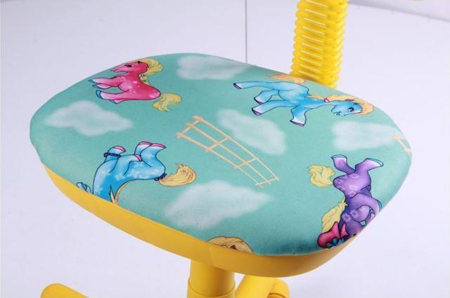 Кресло Свити желтый Пони бирюзовый (Микровелюр) фото 5
