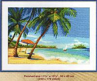 Набор для вышивки крестом Берег лазурного моря. Размер: 38*28,6 см
