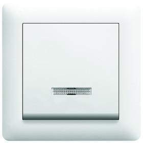 Выключатель с подсветкой 1-полюсный LUMINA2 Hager белый WL0220