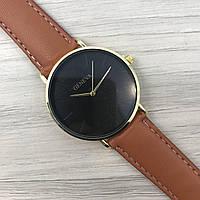 Наручные женские часы Geneva кожзам золото черный золото коричневый