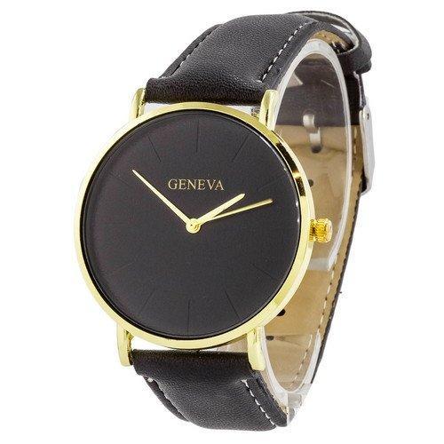 Наручные женские часы Geneva кожзам золото черный золото черный