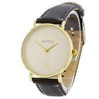 Наручные женские часы Geneva кожзам золото белый золото черный