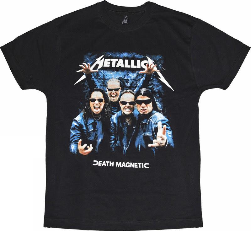 "Футболка Metallica ""Death Magnetic"" (фото группы), Размер S"