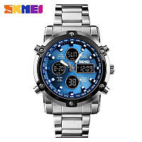 Наручные мужские часы Skmei 1389 Silver-Black-Blue