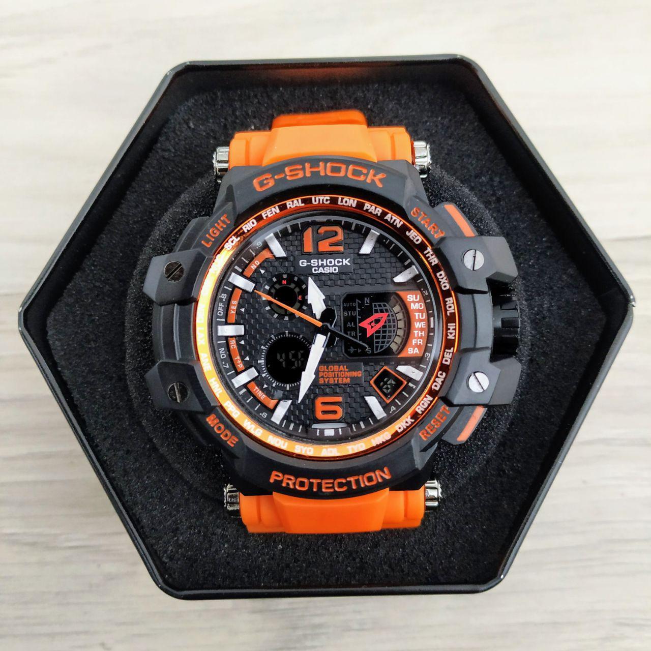Наручные мужские часы Casio G-Shock GPW-1000 Black-Orange Wristband