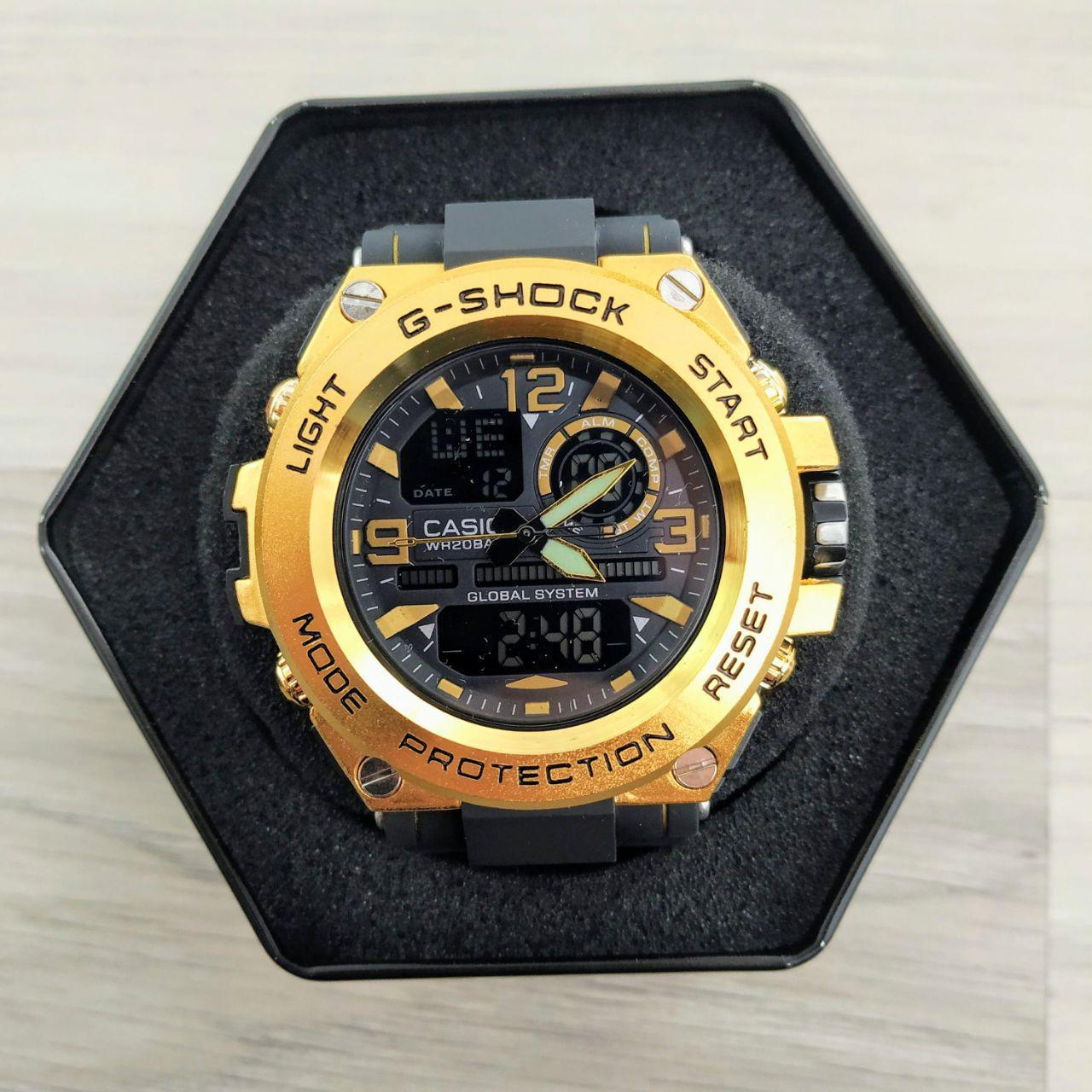 Наручные мужские часы Casio GLG-1000 Black-Gold