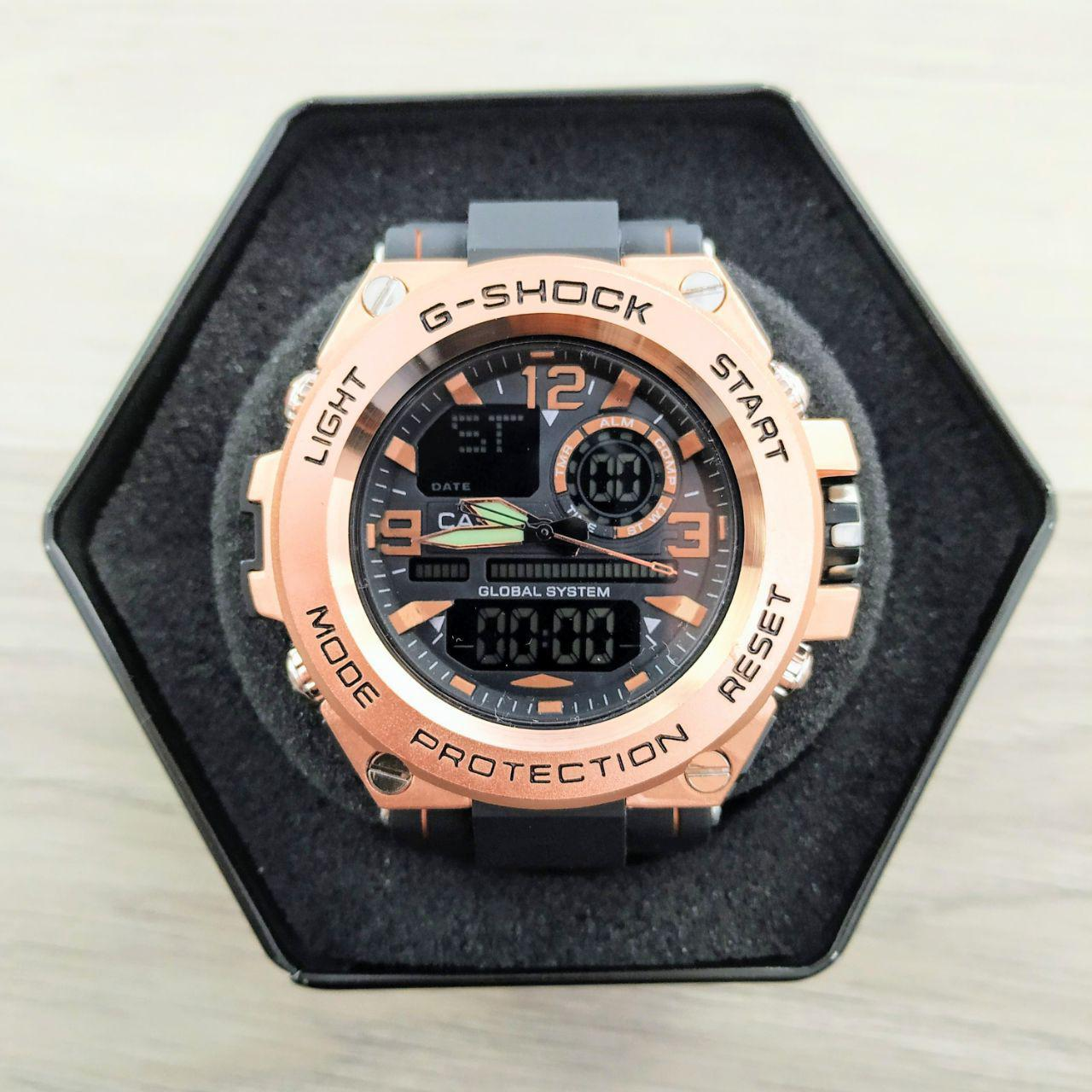 Наручные мужские часы Casio GLG-1000 Black-Cuprum