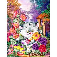 Котенок-садовод. Марічка. Набор для вышивания лентами