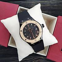 Наручные мужские часы Hublot Classic Fusion Black-Gold-Black Small