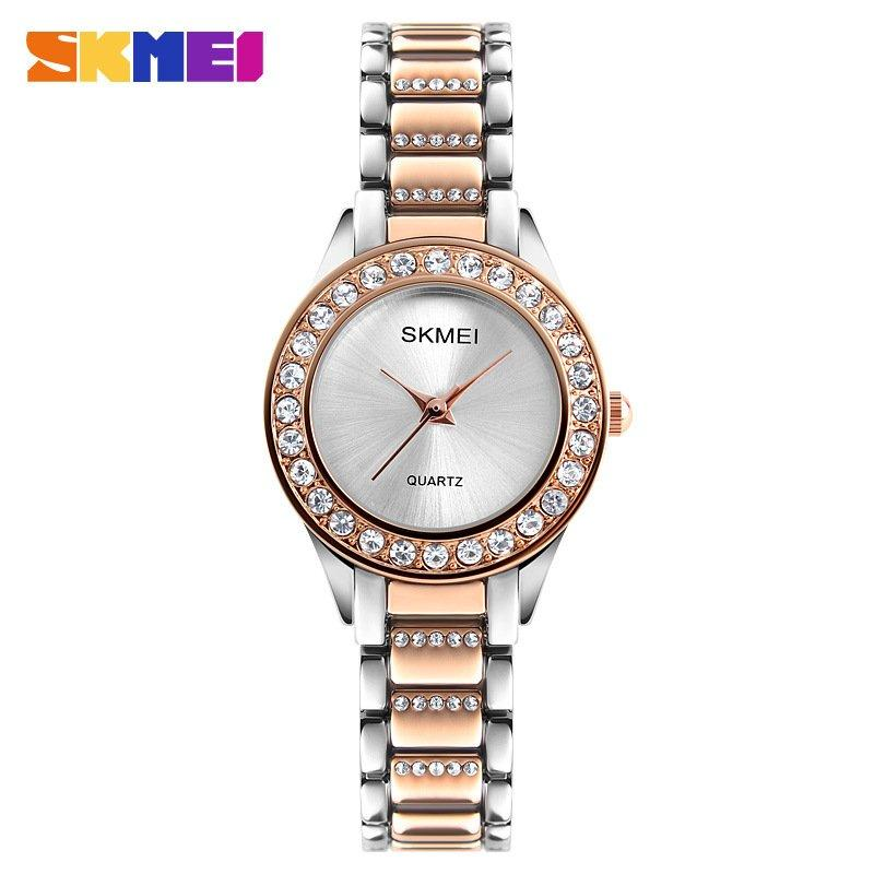Наручные женские часы Skmei 1262 Silver-Cuprum-Silver