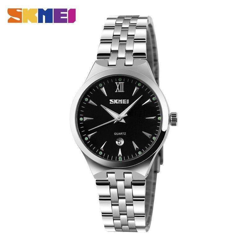 Наручные мужские часы Skmei 9071 Silver-Black Small
