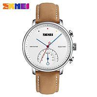 Наручные мужские часы Skmei 1399 Brown-Silver-White