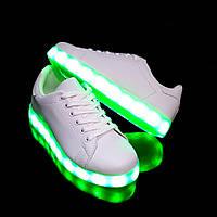 Кроссовки с LED подсветкой унисекс White 653