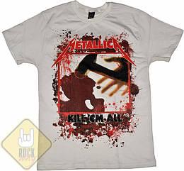 "Футболка Metallica ""Kill'em All"" (белая), Размер S"