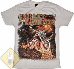 Футболка Harley-Davidson - лава (белая), Размер S