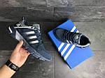 Мужские кроссовки Adidas Fast Marathon (сине-белые), фото 4