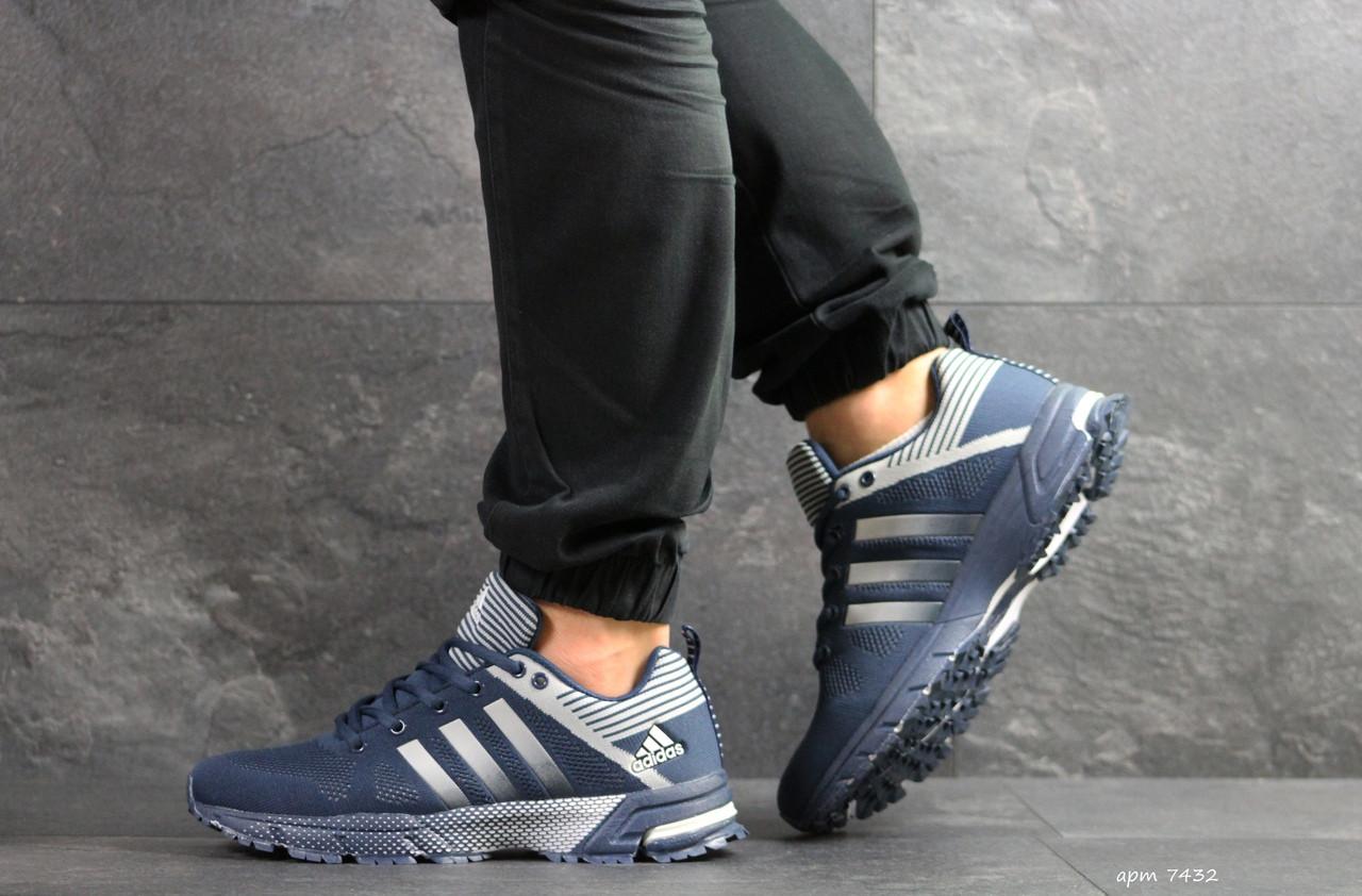 Мужские кроссовки Adidas Fast Marathon (сине-белые)