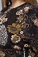 Джемпер из ангоры с цветочным принтом КЕТТИ коричневый (54-60), фото 5