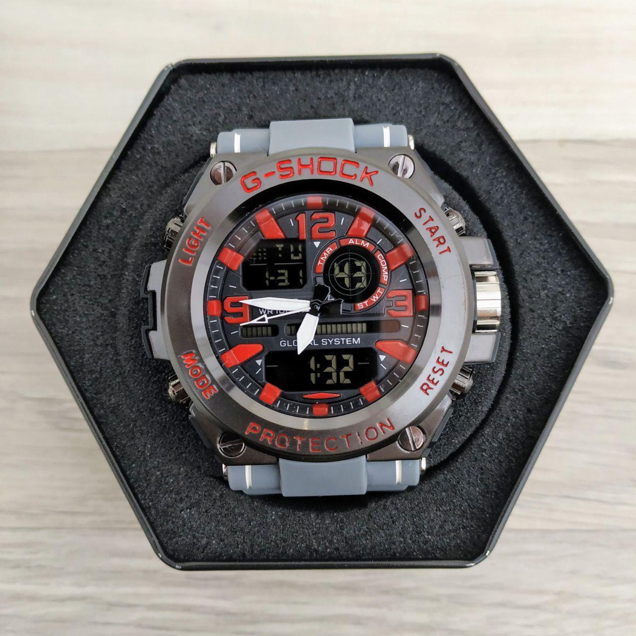 Наручные мужские часы Casio GLG-1000 Gray-Black-Red